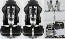 "2 X TANAKA SILVER 5 POINT CAMLOCK RACING SEAT BELT HARNESS 3"" SFI 16.1 CERTIFIED"