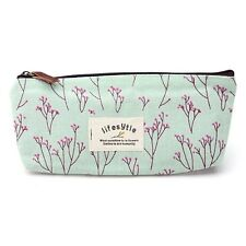 Countryside Flower Floral Pencil Pen Case Cosmetic Makeup Bag AD