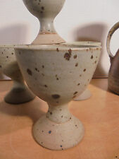 Céramique Vintage 70- 6 Rares coupelles Grès dlg Puisaye, La Borne, G.Tiffoche