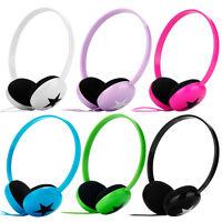 Lightweight Star Girls Boys Childs Kids DJ Headphones iPod Touch Nano Shuffle PC