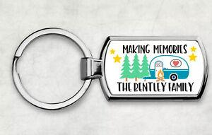 Caravan keys keyring Personalised Camping and Caravan Gift Key Ring Family name