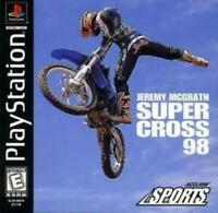 Jeremy McGrath Super Cross 98 Playstation 1 PS1 Game Used Complete