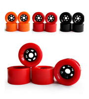 4pcs Skateboard Wheels Pro Road Racing Longboard Wheel~Red & Black & Orange 83mm