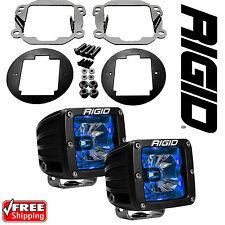 Rigid Radiance LED Fog Light Kit Blue Backlight for 07-17 Jeep Wrangler JK 20201