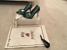 Lanvin H&M Court Shoes With Bow In Green UK size 3 (36)