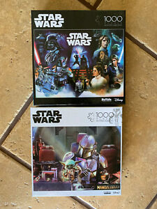 """2 BUFFALO ~ 1000 Pc STAR WARS & MANDALORIAN """"THIS IS NOT A TOY"""" Jigsaw Puzzle"""