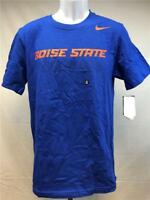 New Boise State Broncos Football Mens Sizes S-L Blue Nike Shirt MSRP $28