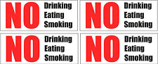 No Drinking Eating Smoking Stickers Decals, Pack of 4 taxi's hackney cabs coach