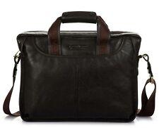 Men's Geniune Leather Briefcase Business Cases Shoulder Messenger Laptop Bag