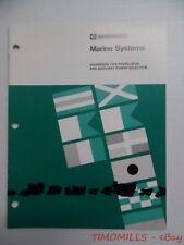 c.1998 Caterpillar Marine Systems Guidebook Industrial Brochure Vintage Original
