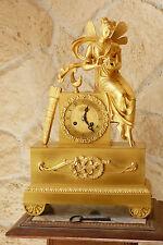 Pendule mythologique en bronze doré PSYCHE ouvrant la boite Viel Robin XIXé n545