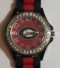 New Georgia Bulldogs Ladies Crystals Watch, Gift for Her Mom Anniversary