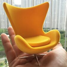 Dollhouse Sedia design 1:12 Egg chair Arne Jacobsen gialla yellow