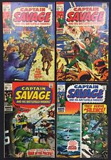 Captain Savage Comics (Lot of 4) Vintage 1969-70