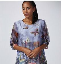 Butler & Wilson Butterfly Chiffon Top!! Brand New QVC RRP £68 Current Stock