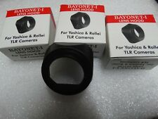 3 Quantity Bayonet - 1 Plastic Lens Hood for Yashica 635 & Rollei 3.5. India.