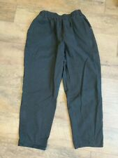 Chic Women's Petite Size 18 Black Pants Elastic Waist Casual 100% Cotton