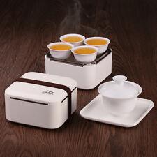 Mini Portable Traveling Gongfu Tea Set Gaiwan Teacups Tea Cloth in Serving  Box f0e5f489f4cc