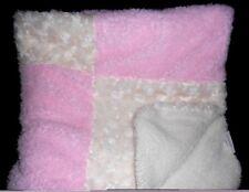 Baby Gear Blanket Pink Cream Squares Patchwork Swirl Soft Warm Babygear