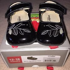 NEW See Kai Run Maya Mary Janes Black Patent Leather Sz 12 18 m Shoes Baby Girls