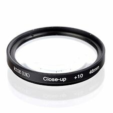 46mm +10 High Definition Close Up Macro Lens Sony Canon Nikon DSLR + FREE Pouch