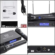 Rockville RWM1 203VH VHF Wireless Dual Handheld Microphone System Digital New