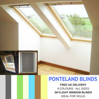 SKYLIGHT BLINDS FOR VELUX WINDOWS - BLACKOUT FABRIC - FREE UK DELIVERY*