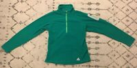 Eddie Bauer First Ascent 1/2 Zip Fleece Pullover Sweater Womens Small Green A3