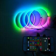"fiacarlighting 4PCS 15.5"" Bluetooth Dream Color Chaser LED Wheel Rings Light SET"