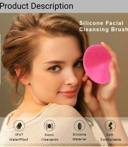 Electric Face Cleansing Silicone Brush Facial Skin Cleaner Cleaning Massager
