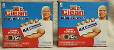 Set of 2 Mr. Clean Magic Eraser Outdoor Extra Durable 8 Pads Per Pack 16 Pads