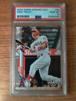2020 TOPPS OPENING DAY #90 MIKE TROUT ANGELS PSA 10 GEM MINT