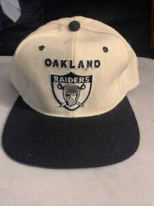 Vtg RARE Oakland Raiders Starter The Natural Snapback Hat 100% WOOL
