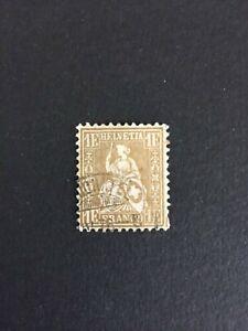 Timbre Suisse, Classique N°41, 1fr Or, Oblitéré, Cote: €