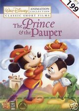 THE PRINCE AND THE PAUPER / PIED PIPER [DVD] Animation 5 Disney Shorts