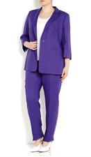 MARINA RINALDI, Linen Suit- Blazer & Pants, Size 27 MR, 18W US, 48 DE, 56 IT