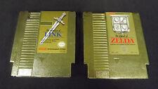 Zelda & Zelda 2 Gold Carts (NES) Cleaned and Tested