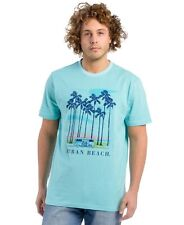 Urban Beach Mens Traveller T-Shirt Light Blue Medium BOX7228 G