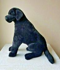 Melissa & Doug Realistic Black Labrador Dog Jumbo Plush Sitting