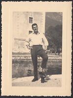 YZ1181 Riva del Garda - Scorcio caratteristico - Fotografia d'epoca - 1956 photo