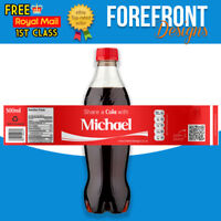 Personalised 'Share a cola' 500ml bottle labels - Birthdays/Christmas (Set of 5)