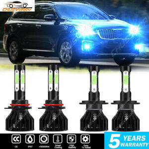 Fit For Kia Forte 2017-2018 Comb Kit 9005 H7 LED Headlight High Low Beam 8000K