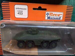 ROCO MINITANKS Spahpanzer Luchs, 1/87, complete, vgc, serial 453