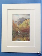 TROSSACHS PERTHSHIRE SCOTLAND 1912 DOUBLE MOUNTED PRINT 10X8 OVERALL S PALMER