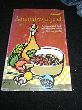 Sunset Adventures in Food First Edition First Print Oct 1964 Illustrated HCDJ