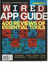 WIRED, 2012 ( APP GUIDE 400 REVIEWS OF ESSENTIAL TOOLS) iPHONE /iPAD *ANDROID &