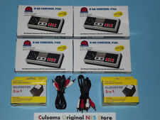4 NEW NINTENDO NES CONTROLLERS, 2 NEW NES AC ADAPTERS & 2 NEW AV CABLES