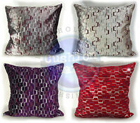 "Velvet Matrix Design Scatter Cushions or Covers In 4 Lovely Colours 21""X21""53X53"
