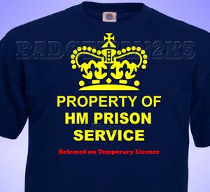 Property Of HM PRISON SERVICE JOKE  MENS Cotton T-Shirt