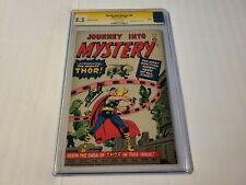 JOURNEY INTO MYSTERY #83 GOLDEN RECORD REPRINT 1966 STAN LEE AUTO CGC 8.5
